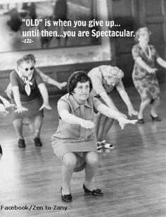 NEVER SAY YOUR TO OLD!!!!!  This is how you do squats.... :)