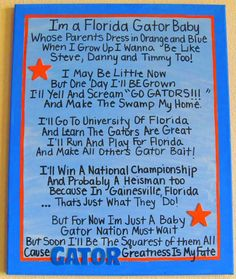 I'm a Florida Gator Baby Canvas