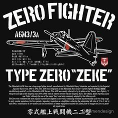 A6M Zero Zeke Imperial Japanese Nay Air Service Fighter Aircraft Plane World War 2