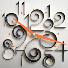 Designer: Rima Bueno  Three Dimensions of Time  Paper clock design to quill!!