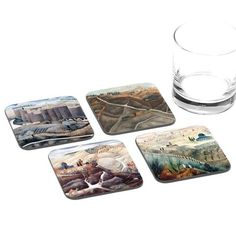 Reuven Rubin Jerusalem Coasters - Set of 4 Coasters - ofek wertman jewish gifts & Israeli Gifts Jewish Gifts, Jerusalem, Coaster Set, How To Make, Handmade, Design, Souvenir, Hand Made, Design Comics