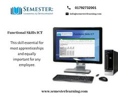This skill is essential for most apprenticeships and equally important for any employee. It covers use of email, the internet, word processing, spreadsheets, databases and is tested in a practical way. Online Courses, Opportunity, How To Apply, Internet, Learning, Modern, Life, Trendy Tree, Study
