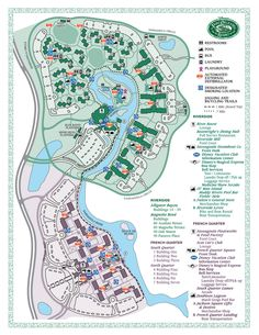 Disney's Port Orleans Riverside map - we are staying at the resort on the top half of the map.