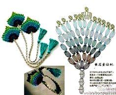 Verskeie Boekmerk Patrone op hierdie skakel, almal met diagramme by: http://crochet-plaisir.over-blog.com/