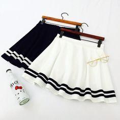 Japanese sailor striped skirt