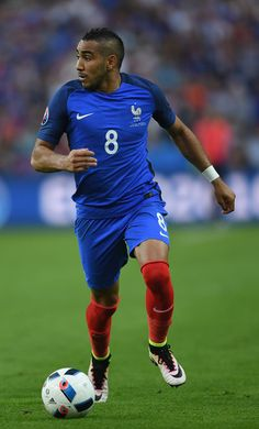 Dimitri Payet of France in action during the UEFA Euro 2016 Group A match between France and Romania at Stade de France on June 10, 2016 in Paris, France.