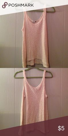 Tank top See through cream top higher in front lower in back Cotton On Tops Tank Tops