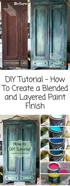 DIY Tutorial - How To Create a Blended and Layered Paint Finish #diy #affiliate #chalkpaint #homedecor #furniture