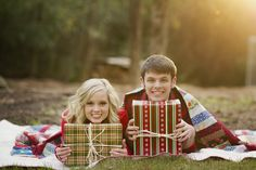 Cutest Christmas photos ever...not to mention, he proposed to her at the end of the shoot!!! Sigh...