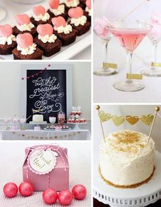 Pink and Gold Valentine's Day Party with Lots of Really Cute Ideas via Kara's Party Ideas KarasPartyIdeas.com #PinkParty #PartyIdeas #ValentinesDayParty