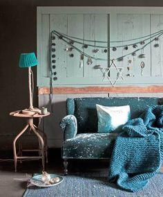 Living inspiration - home decoration Christmas Trends, Modern Christmas, Hanukkah Decorations, Home And Living, Living Room, Blue Rooms, Interiores Design, E Design, My Dream Home