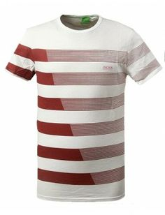 Hugo Boss camiseta hombre estampada | blanco-rojo