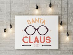 Hipster themed christmas: Santa Claus logo