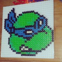 TMNT Leonardo hama beads by macupuddi