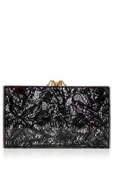 Lacey Pandora Clutch In Black Transparent by Charlotte Olympia for Preorder on Moda Operandi
