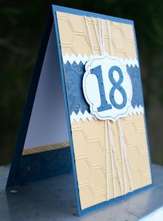 Stampin Up 18th birthday card