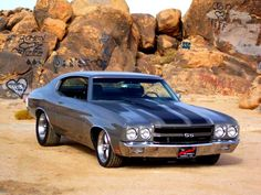 '70 Chevelle ( mine was black paint-black vinyl-black interior and it busted over 135 mph many times ) DCJ