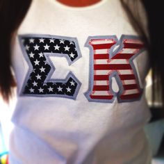 sigma kappa american flag letters to honor the fallen victims of am getting this
