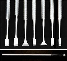 Miniature Chisels (Set Of of 7 sharply honed miniature chisels for carving and shaping precise, intricate details into model surfaces. Woodworking Projects For Kids, Woodworking Tips, Hobby Tools, Metal Forming, Chisel Set, Dental Supplies, Small Figurines, Old Tools, Home Repair