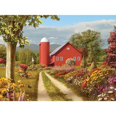 Countryside Afternoon 300 Large Piece Jigsaw Puzzle