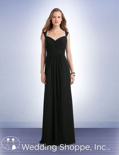 Bill Levkoff Bridesmaid Dress 1111 (I like the neckline...the back is interesting...they don't have a lime green color, really.)