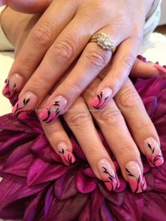 Freehand nail art by marieware