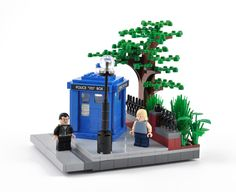 An exterior view of the TARDIS. If you like this project, please vote for it on cuusoo: UCS TARDIS Console Room Dr Who Lego, Lego Doctor Who, Bbc Doctor Who, Lego Tardis, Traditional Sculptures, Lego Activities, First Doctor, Lego Toys, Lego Worlds