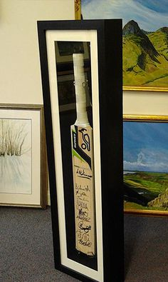 Unusual Framing Requests #2 Signed Cricket Bat Framed by www.pgframing.com