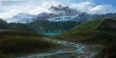 Northern Grasslands concept art from the video game Age of Conan: Unchained by Torstein Nordstrand