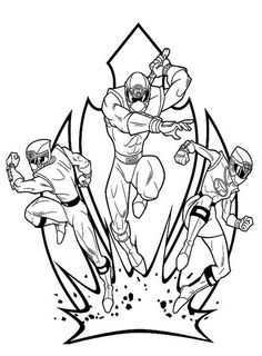 power ranger samurai coloring picture  coloring page