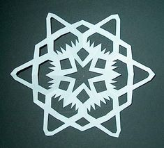 Picture of Step 8:The Reveal. There you have it. A snowflake.