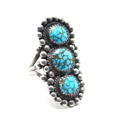 Size US 8 Native American Collectors Quality Vintage Ring **The Number 8 mine is located in Eureka County, Nevada. There has been no Number 8 Turquoise mined since 1976. However, there is an existing