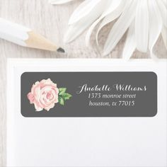 Shop Single Pink Vintage Rose Label created by heartlocked. Vintage Roses, Vintage Pink, Office Stationery, Personalized Stationery, Office Gifts, Gift Tags, Label, Invitations, Floral