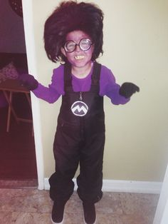 Home made Evil Minion costume. My baby looks so cute!