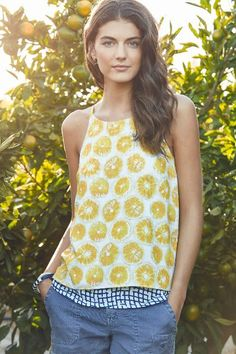 Love everything about this tank top! The color and the fun layer look!!!!! Layered Swing Tank - anthropologie.com