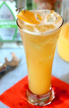 This Denver Broncos Orange Shandy is a great take on a Shandy...the addition of orange juice and triple sec is all good!