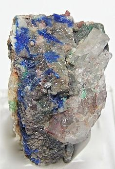Rare Blue Linarite Crystals Specimen New Mexico by FenderMinerals