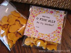 Goldfish Crackers Valentines with Printable