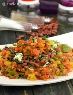 This peppy Mexican Salad of cooked kidney beans and succulent low-fat cottage cheese enhanced with a freshly prepared salsa dressing, is a protein, potassium and fibre rich delight ideal for weight-watchers. Unlike the most Mexican salads, which uses full-fat paneer, this recipe makes use of low-fat paneer here to cut down on the calories, so you can fall in love with this tangy salad without any reservations! This salad can serve as a snack in between too.