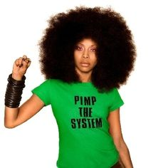 The shirt alone deserves it's own pinboard. Eryka Badu.