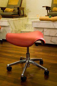 Saddle stool at the Soho Spa in New York City