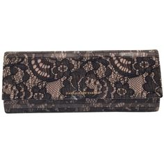 Pre-owned Diane Von Furstenberg Twilight Lace Black And Nude Clutch ($170) ❤ liked on Polyvore featuring bags, handbags, clutches, bolsas, accessories, black and nude, floral handbags, diane von furstenberg handbags, preowned handbags and nude clutches