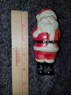 Vintage Plastic Santa by VintageBarnYard on Etsy