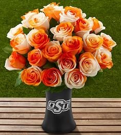 The FTD Oklahoma State University Cowboys Rose Bouquet - includes the vase!