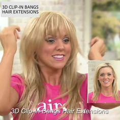 Extensions met Clip-In-pony Blunt Bob Hairstyles, Hairstyles With Bangs, Hairstyles Videos, Haircuts, Short Hair Styles Easy, Short Hair Cuts, Clip In Pony, Hair Transformation, Clip In Hair Extensions