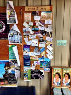 Can you find the Kauai Island Housesitting and Kauai Film Studios (my other business) ads on the bulletin board in Kalaheo?