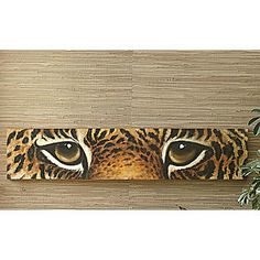 Cheetah Eyes Art from Seventh Avenue ® I prefer Lion eyes African Wall Art, African Artwork, Unusual Art, Modern Wall Decor, Diy Canvas Art, Eye Art, Art Sketchbook, Metal Wall Art, Black Art