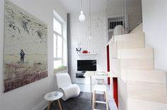Marek má rád cihlovou stěnu natřenou na bílo, u které zachoval i všechny její...