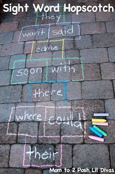 Sight Word Hopscotch + 25 DIY Educational Activities for Kids
