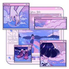 vaporwave desenho A little bit more this time Aesthetic Drawing, Aesthetic Anime, Aesthetic Art, Aesthetic Memes, Japanese Aesthetic, Aesthetic Photo, Arte Do Kawaii, Kawaii Art, Aesthetic Pastel Wallpaper